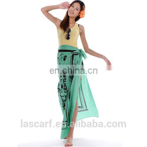 customized printed cotton beach sarong