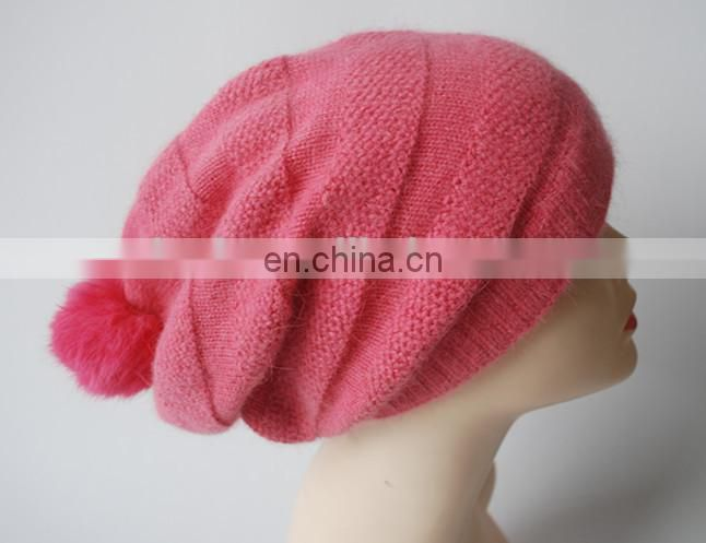 Lady Lovely Angora Beanie Hat