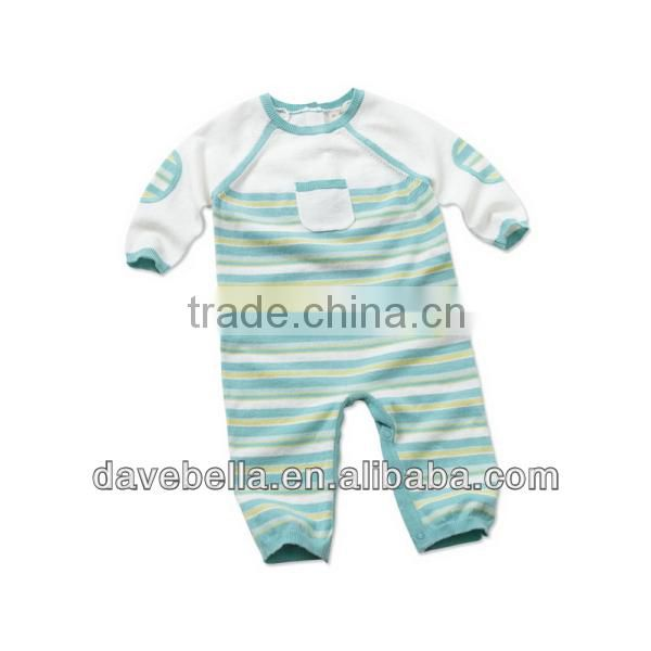 DB540 dave bella baby clothes kid clothing autumn cotton infant clothes baby one-piece knit baby romper baby coverall babysuits