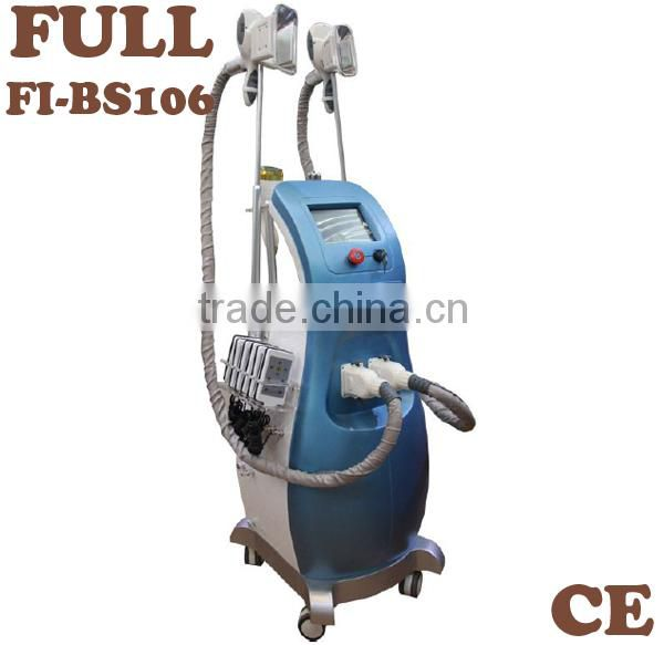 Professional salon use multifunction weight loss beauty machine with fat freezing cavitation rf laser in one