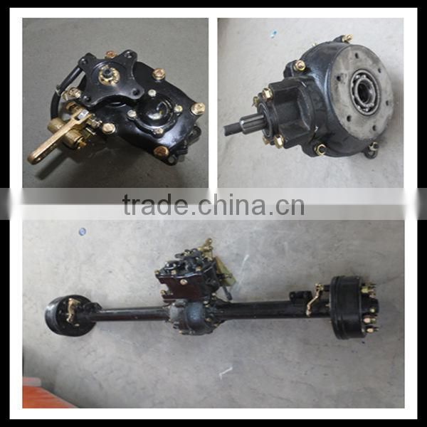 China manufacture tricycle wheels and rear axle assembly