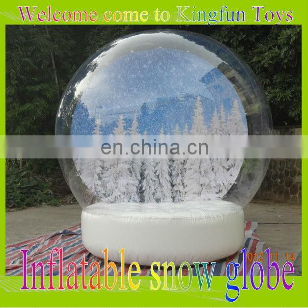 Hot sales inflatable snow globe decorations