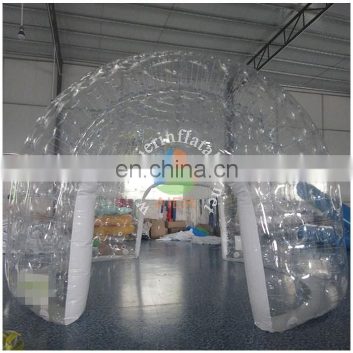 5m Diameter cheap colourless inflatable dome tent for sale