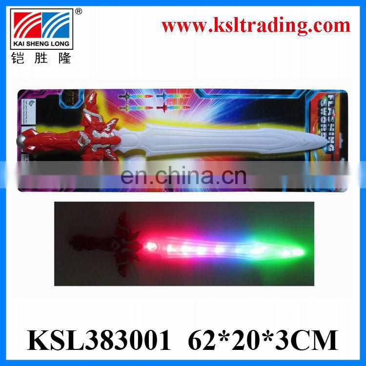 Eco-Friendly plastic toy sound and light flashing sword toys