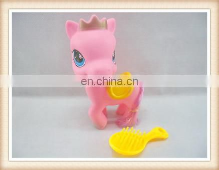 cute fairy plastic rubber horse toy