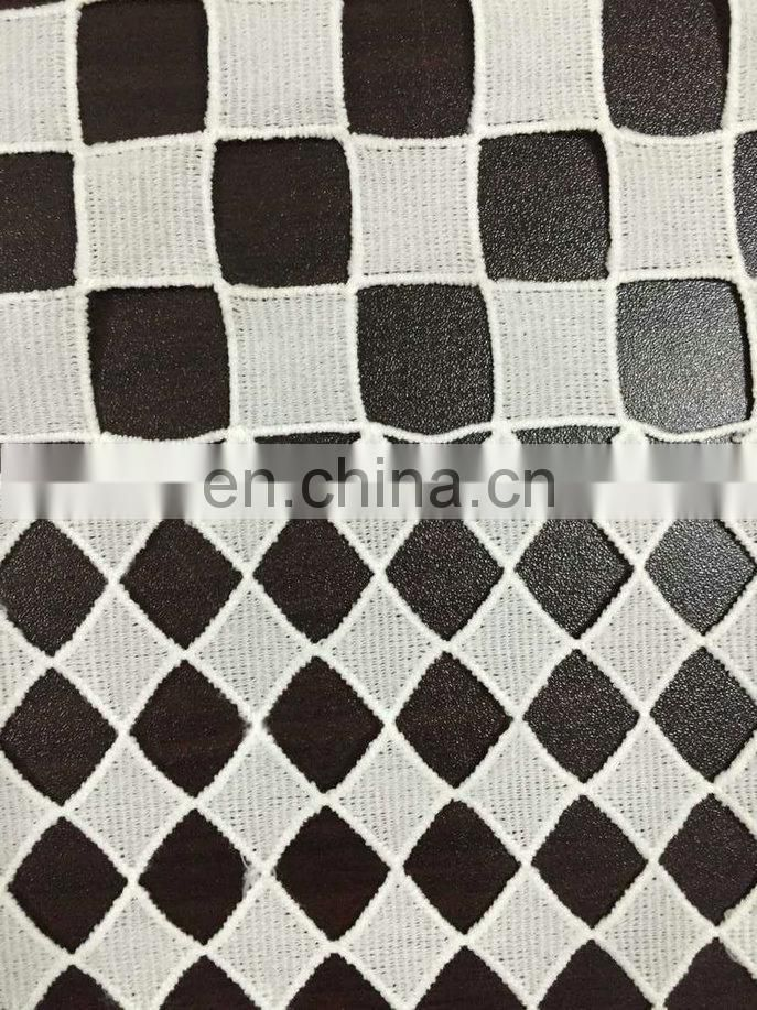 chemical milky yarn lace fabric used on garment