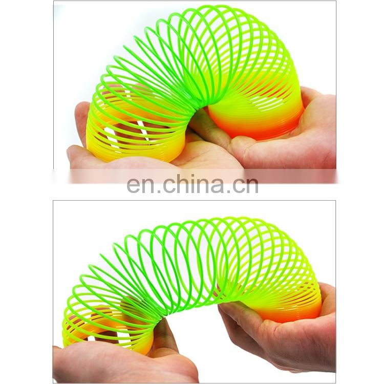 Dropshipping 3 PCS Colorful Slinky Toy Rainbow Circles Slinky Toy