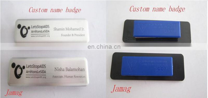 Custom Made Name Badge With Safety Magnet