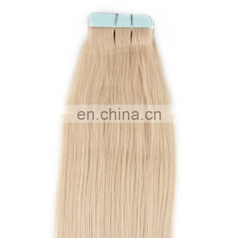 Factory price top quality tape hair extension natural brazilian human hair skin weft