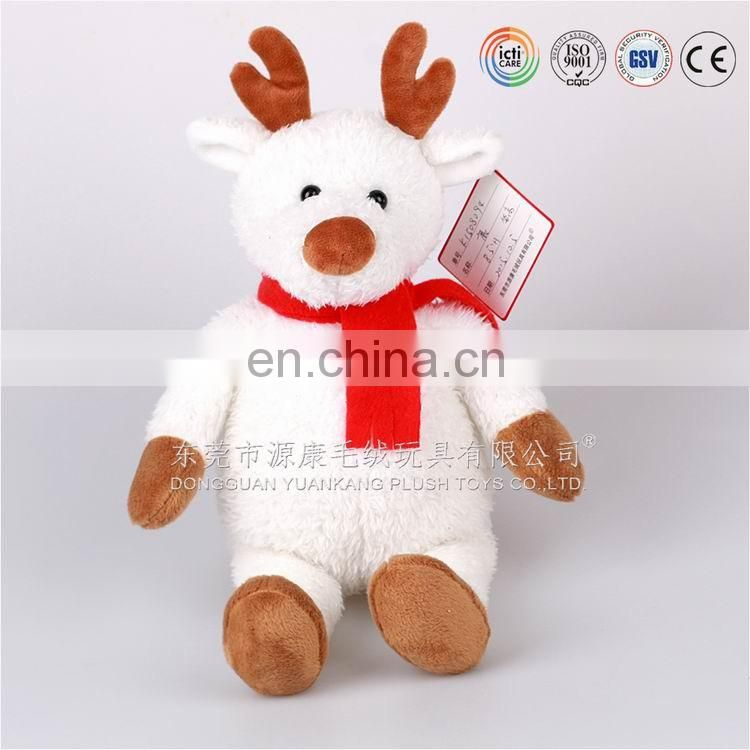 Professional ICTI audited custom hot toys for christmas 2016,christmas plush reindeer in Dongguan,Guangdong ,China