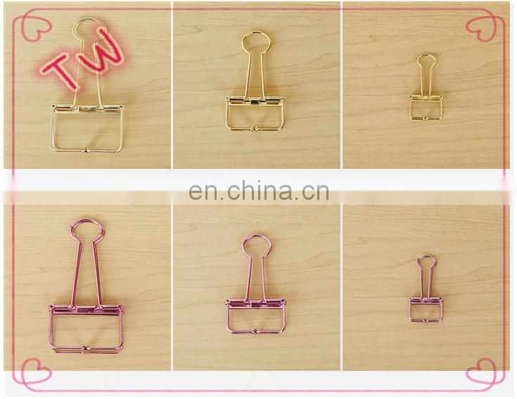 Office and School Clips Mixed Color Hollow Metal Long Tail Clip Paper Ticket Folder Wholesale In Bulk