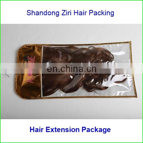 Yiwu wholesale bopp self adhesive hair extension bags