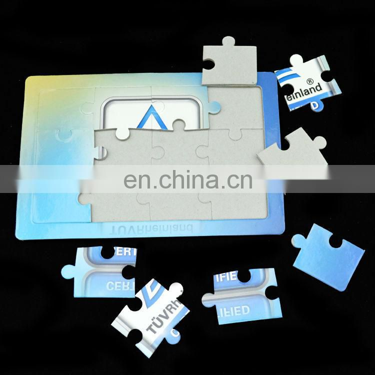 customized plain kids cardboard jigsaw puzzle