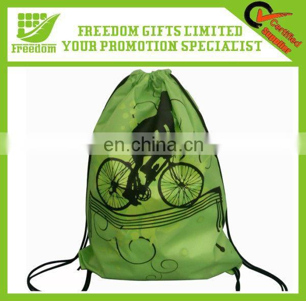 Promotion Advertising Nylon Shopping Drawstring Bag