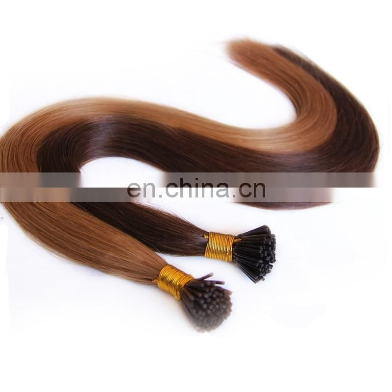 Double Drawn Prebonded Hair Extension russian virgin hair extensions i tip hair extension