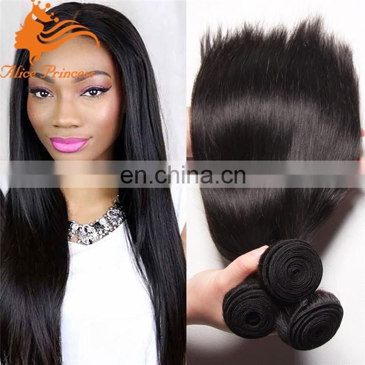 Indian Remy Hair Straight Human Hair Weaves 3 piece hair weave