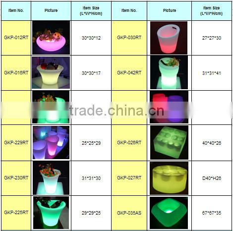 LED remote control plastic Ice Bucket GKP-052RT