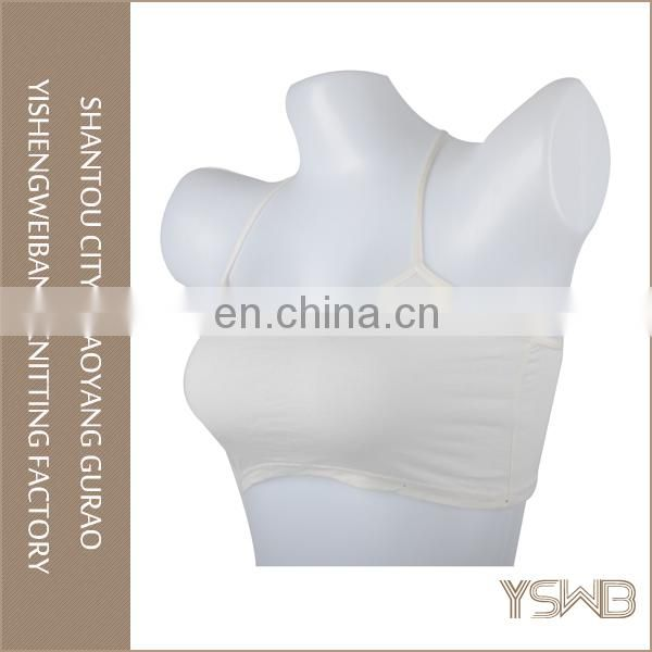 Factory price elastic comfortable white sweet girl tube top bra