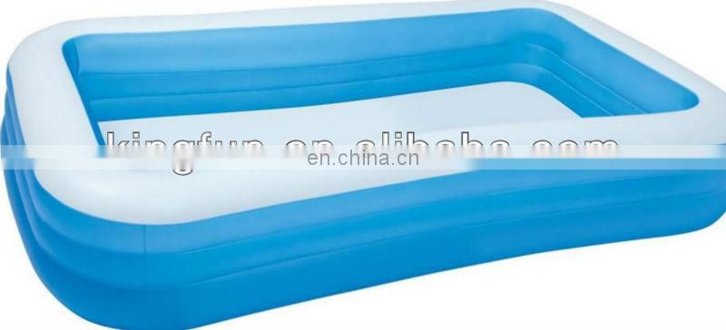 Family size inflatable pool