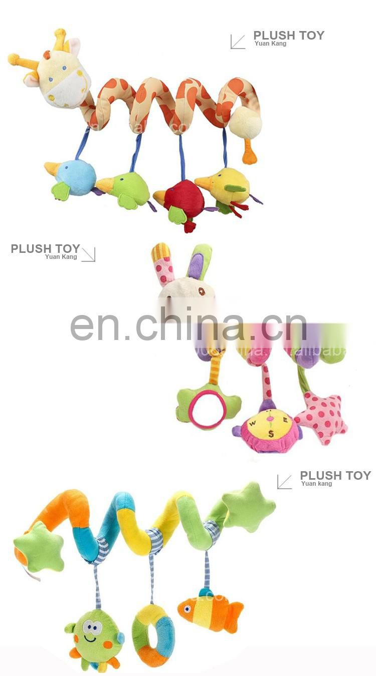 Custom Baby Plush Animals Infant Spring Hanging Toys