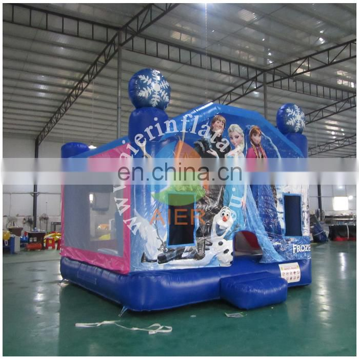 New inflatable frozen castle bed ,inflatable bouncer castle tent , jumping toy inflatable for kids and adult