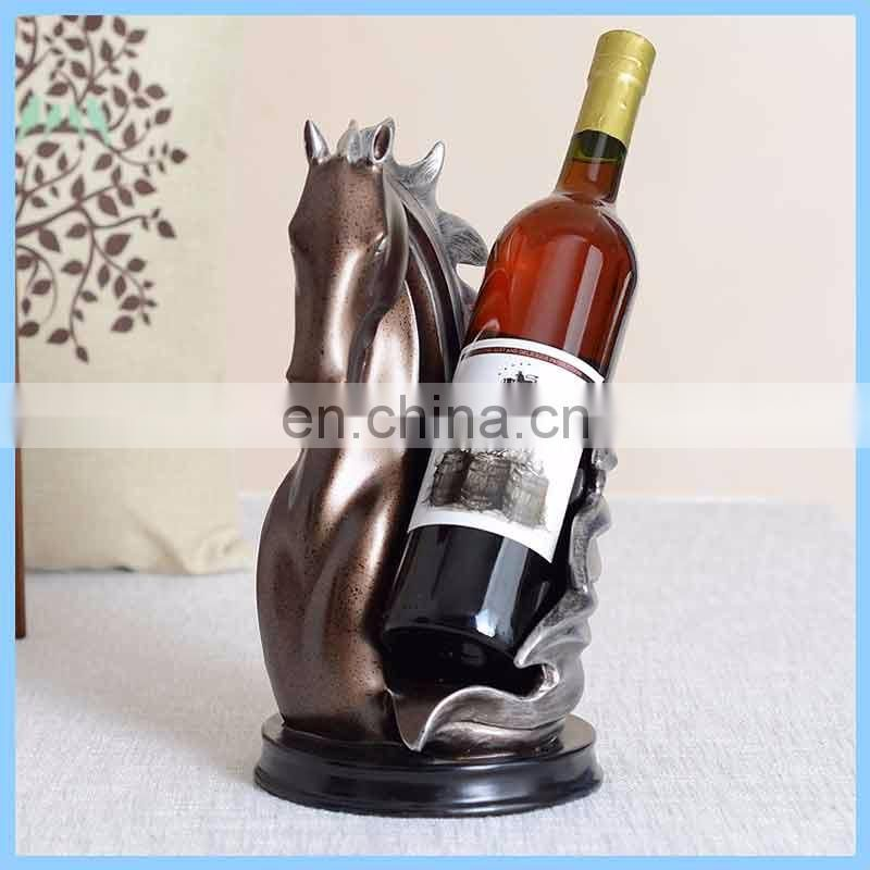 Fashion gifts wine holder resin hanging elephant animal wine glass rack