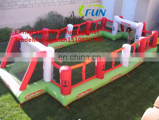 inflatable soap soccer area /inflatable soap soccer field/inflatable soap football paly with water