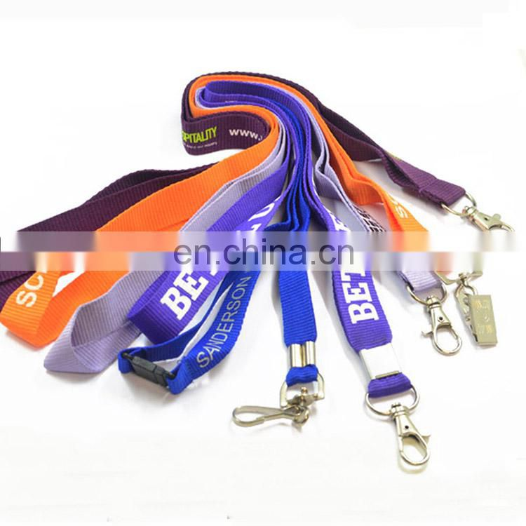 Silk screen printed cheap custom logo lanyard