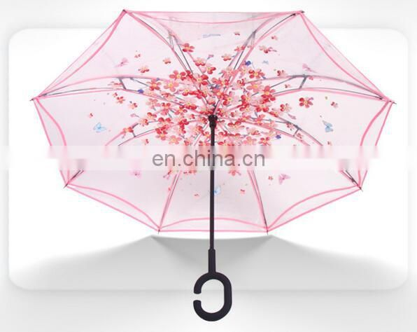 Transparent reverse car umbrella