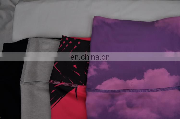custom fashion sublimation printed leggings for women