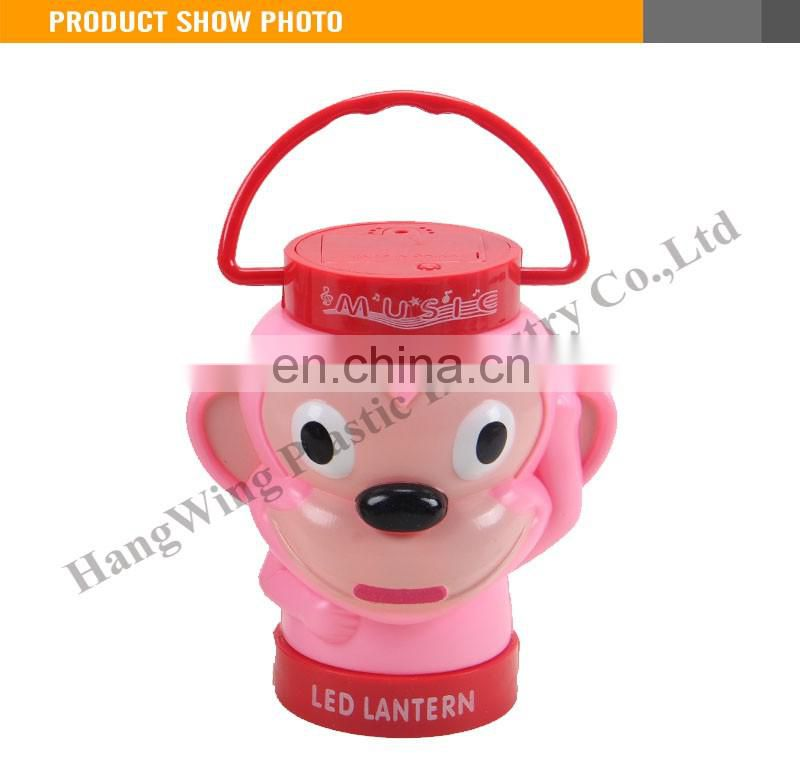 Kids Plastic Cartoon Monkey Lantern Function Projection Toy Lantern