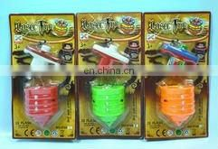 Plastic flashing light spinning top toys
