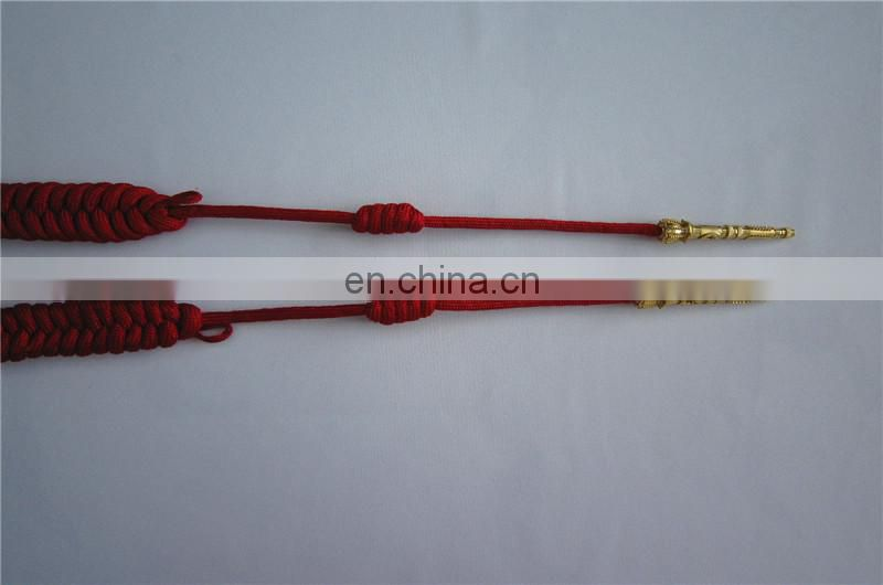 red double style military aiguillettes