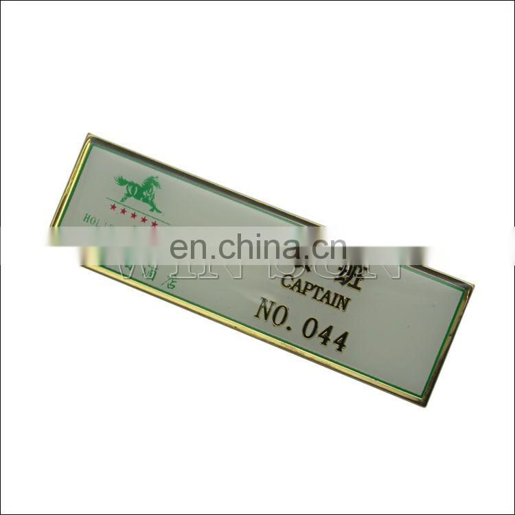 famous brand metal name tags supplier/custom logo nameplates