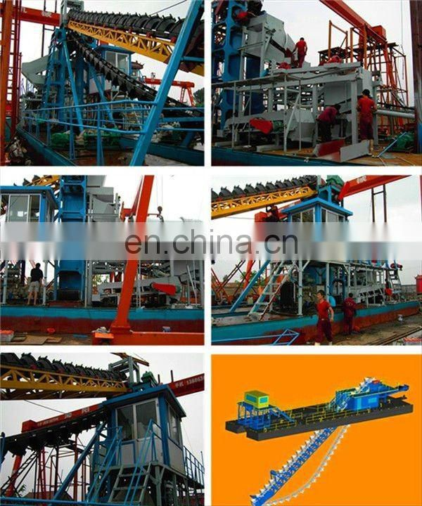 Mini River Sand Bucket Wheel Dredger