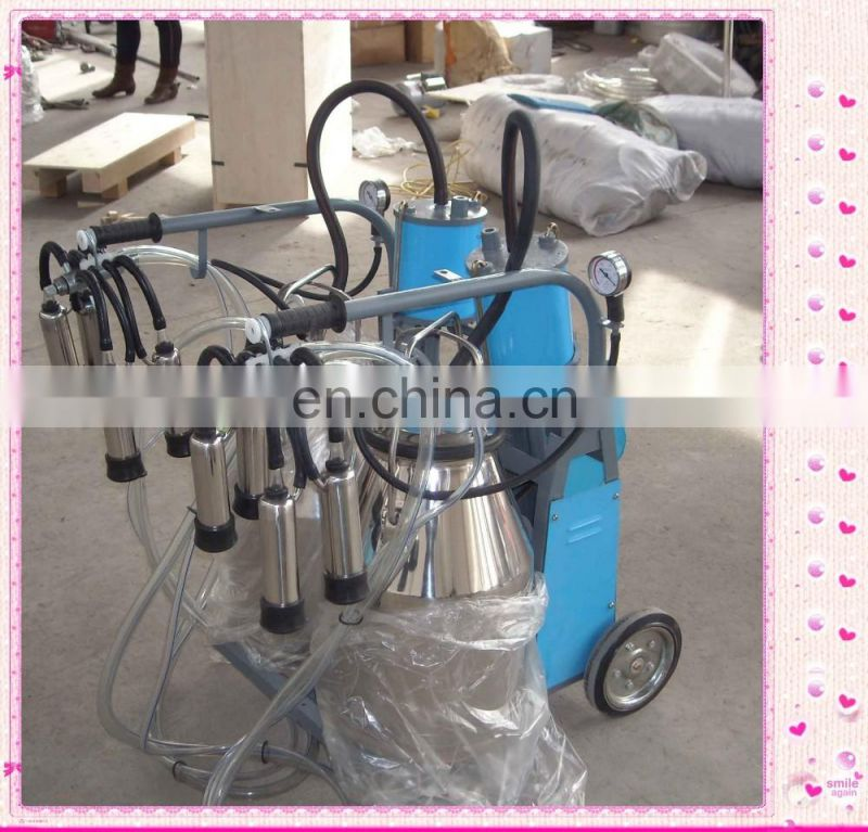 High Capacity Stainless Steel cow and goat cluster for milking machine Cow Four Pail Milking Machine Price With Washing Bucket
