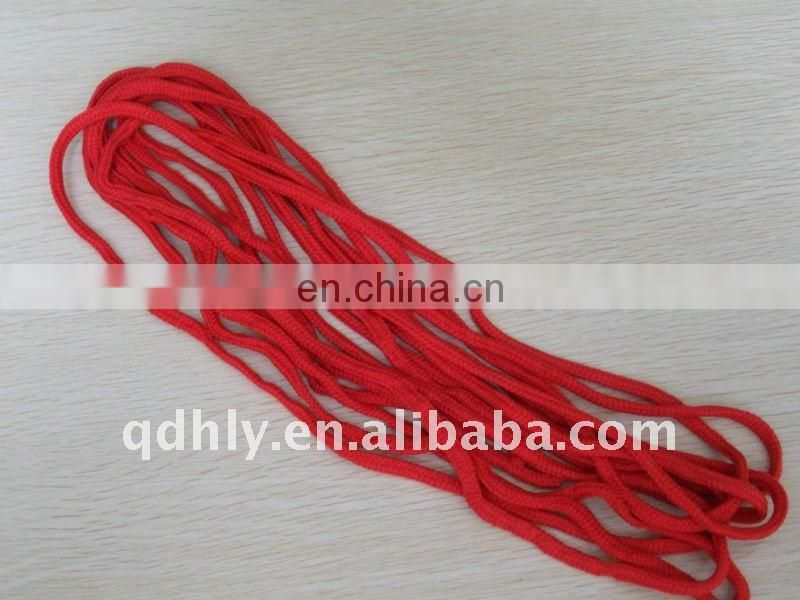 Bright red woven cotton strings