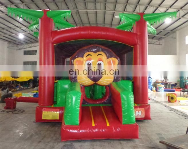 high quality exquisite Inflatable lion obstacle course for sale,inflatable forest obstacle course