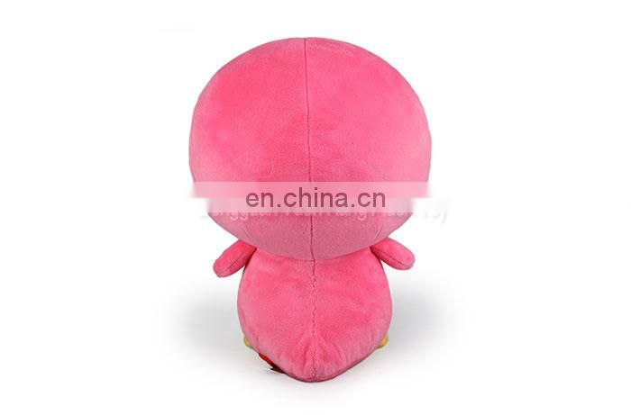 Custom cute soft pink plush penguin stuffed toy
