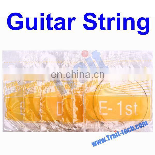 Comfortable Feel 6 Sets Metal Steel Guitar Strings