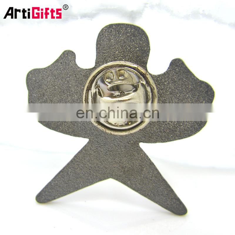 Pin Maker Promotion Cheap Newest Product Metal Hard Enamel Kite Shaped Laple Pin