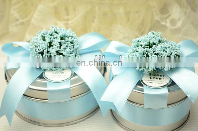 Fancy flower metal wedding candy box