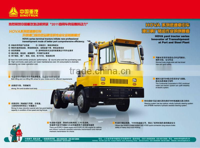 SINOTRUCK 4*2 HOWO tractor truck with hydraulics AXLE trailer