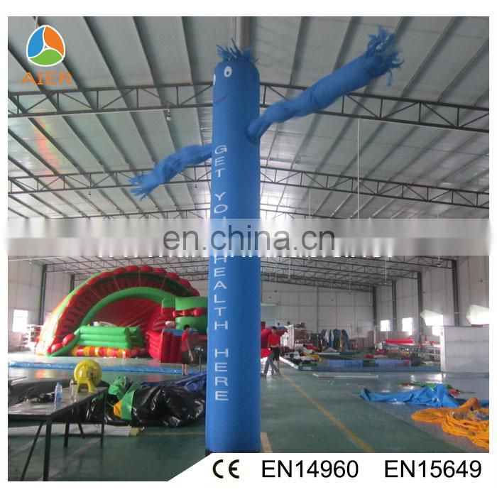 Blue inflatable air dancer for advertising