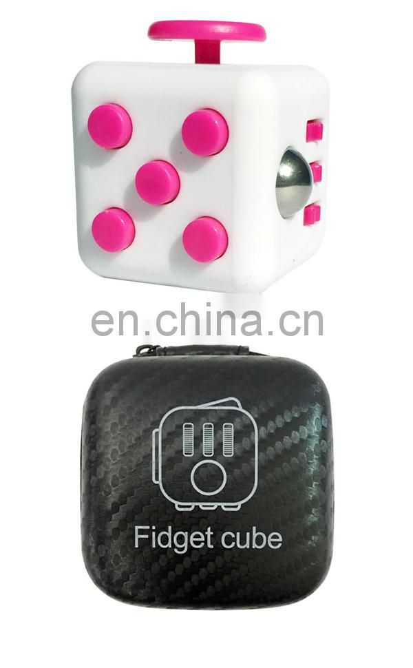 Hot sale pink multifunctional plastic fidget cube gold supplier