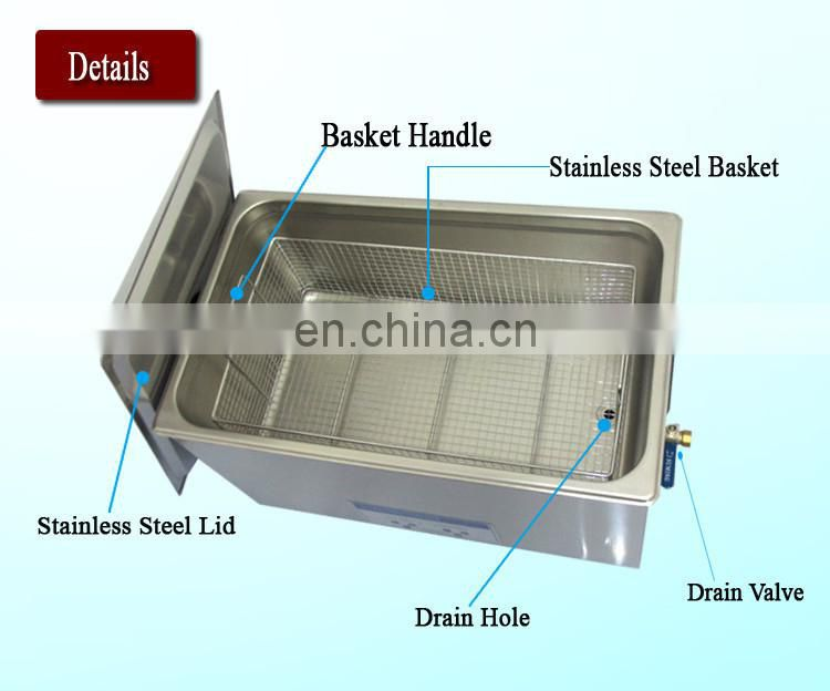 Professional Cleaning Equipment Ultrasonic Cleaner With Heating SUS Soak Tank