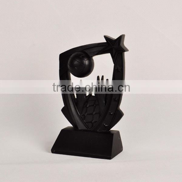 Resin basketball with hands trophy for award