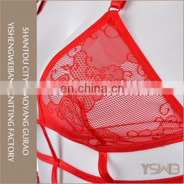 Hot style red custom oem sexy bra set lingerie mature women