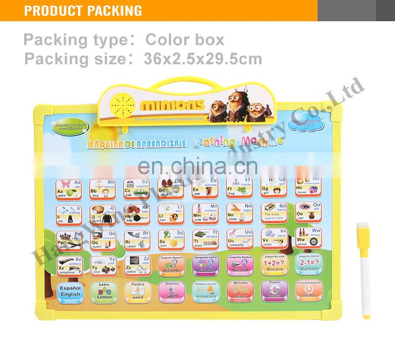 Hot Selling drawing board English and spanish learning educational