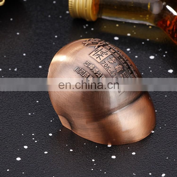 hot sale wholesale low price customized logo souvenir ancient copper metal hat shape